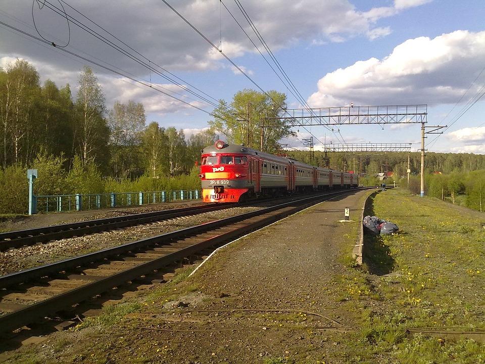 Russia, Landscape, Train, Railroad, Railway, Track