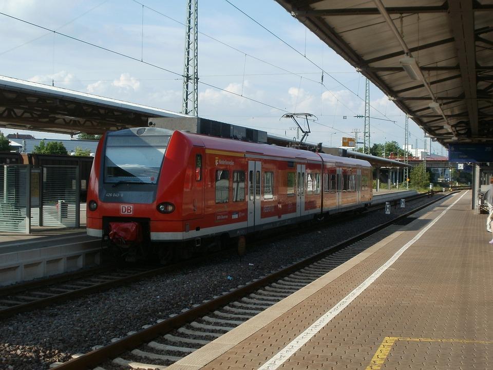 Homburg, Train Station, Train, Platform, Track, Germany