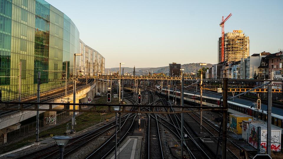 Basel, Railway Station, Fhnw, Track, Train