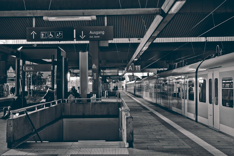 Railway Station, Track, Train, Railway, Architecture