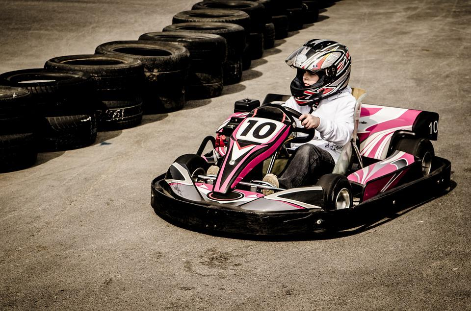 Gokart, Sports, Action, Umpteen, Motor, Speed, Track