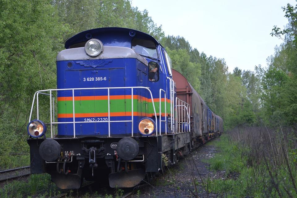 Locomotive, Tracks, Railway, Poland, Orzegów, Railroad