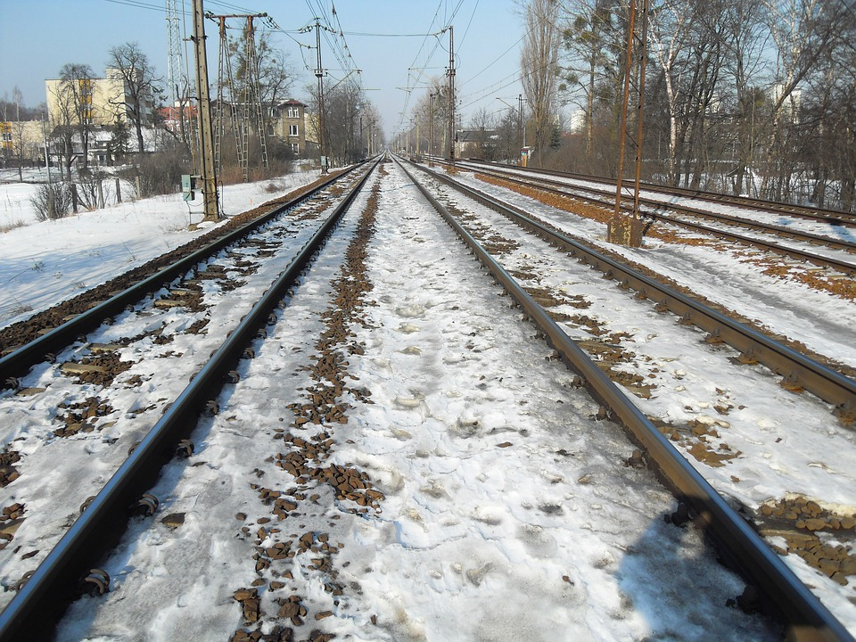 Poland, Railroad, Railway, Tracks, Trees, Nature
