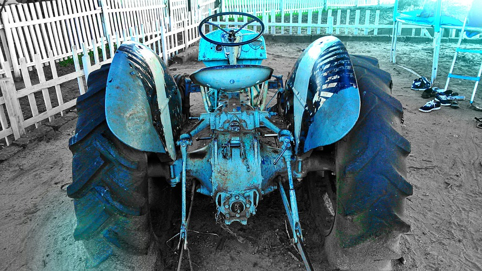 Tractor, Blue, Nairobi