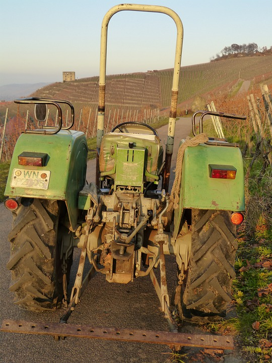 Tractor, Tractors, Farm, Agriculture, Wine, Vines