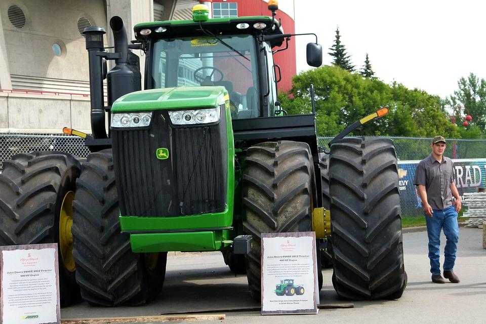 Huge, Tractor, Farm, Equipment, Heavy, Working Machine