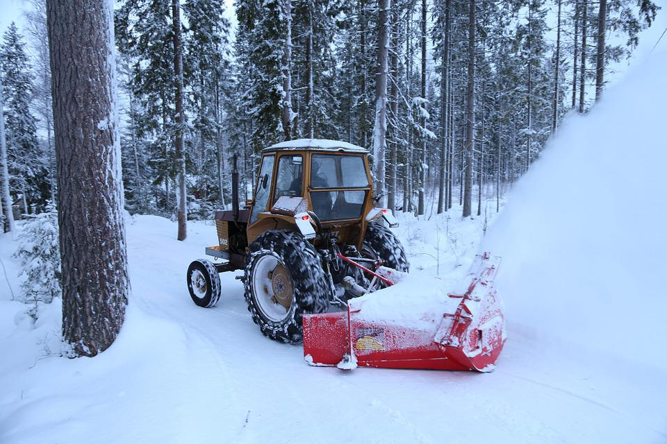 Winter, Snow, Snow Thrower, Tractor, Road, Cleaning