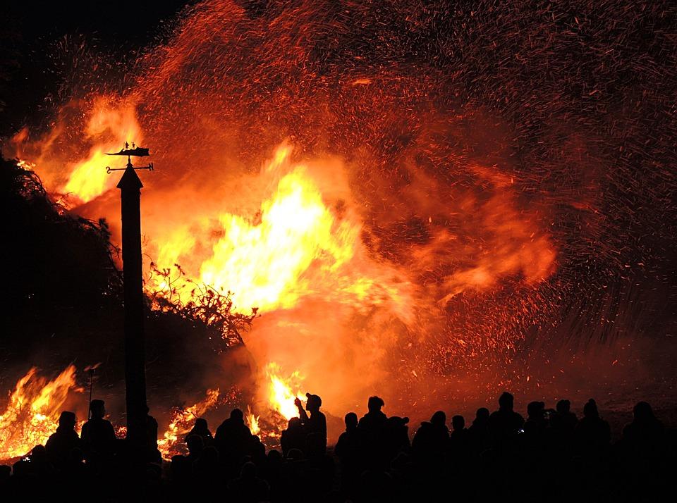 Easter Fire, Brand, Heat, Firelight, Customs, Tradition