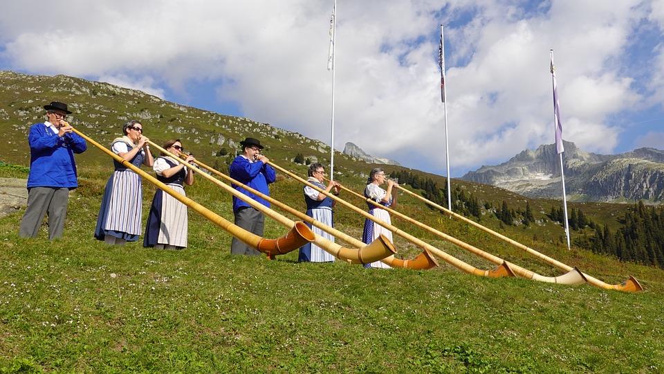 Alphorn, Musical Instrument, Tradition, Mountains