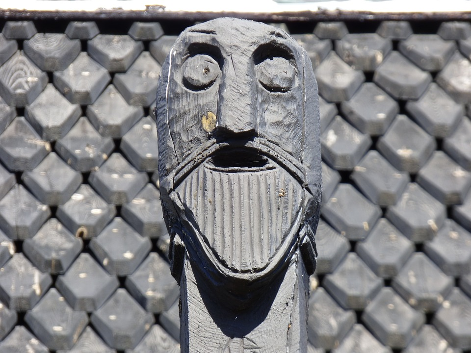 Mask, Wooden, Viking, Temple, Tradition, God, Religion