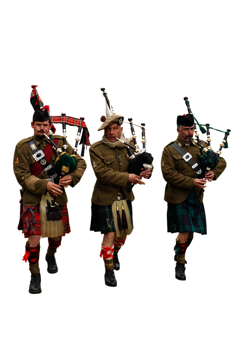 Soldiers, Bagpipes, Traditional, Music, Scotland