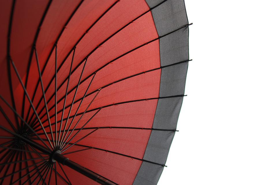 Japan, Umbrella, Traditional, Pattern, Red, Beautiful
