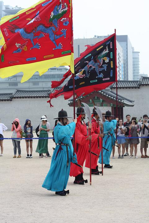March, Republic Of Korea, Traditional, Korean, Korea