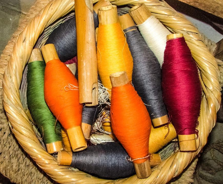 Yarn, Basket, Colours, Colorful, Loom, Traditional