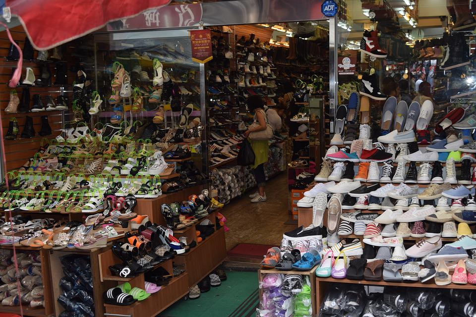 Traditional Market, Shoes, Shopping Center, Slippers