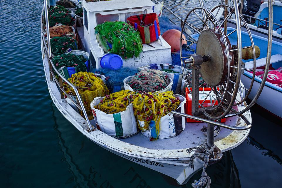 Fishing Boat, Traditional, Sea, Harbor, Island
