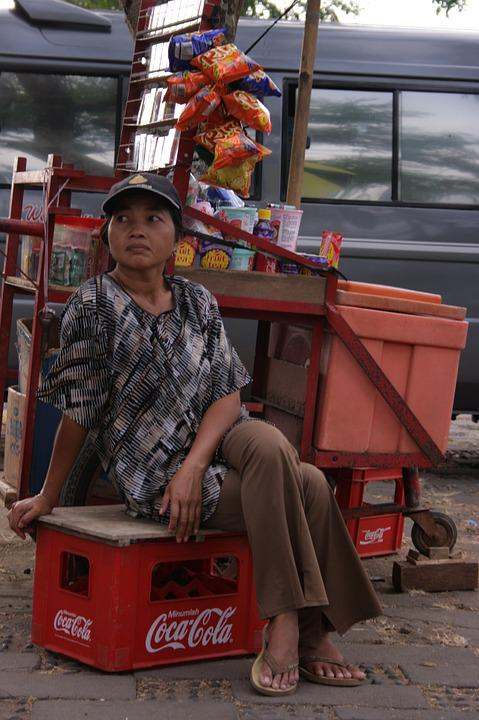 Indonesia Small Shop, Traditional Shop, Traditional