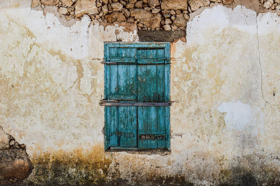 Cyprus, Sotira, Old House, Window, Green, Traditional