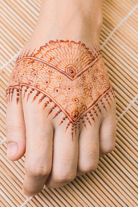 Henna, Tattoo, Traditional, Cultural, Ink, Pigment, Art