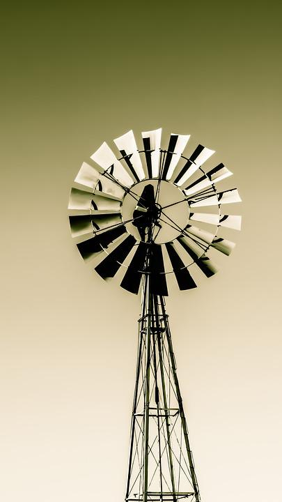 Windmill, Wind, Traditional, Water
