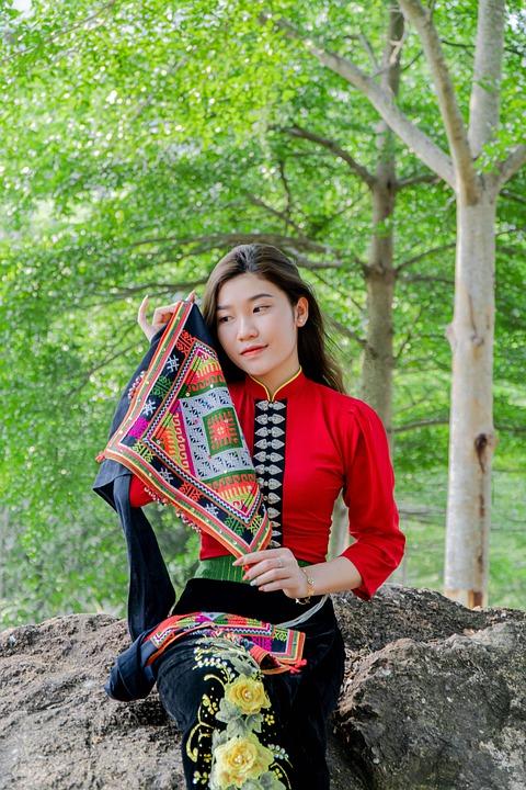 Woman, Fashion, Traditional, Vietnamese