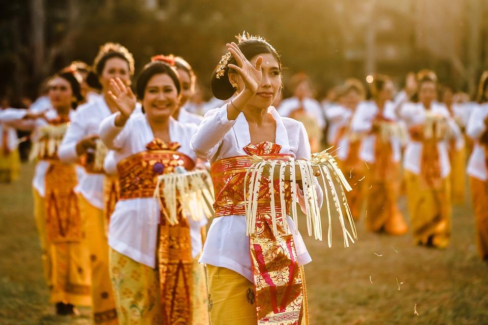 Dance, Balinese, Traditional, Women, Bali, Culture