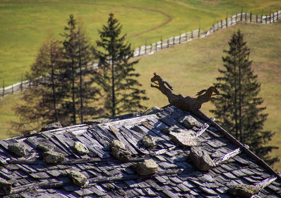 Roof, Horses, Horse, South Tyrol, Traditions