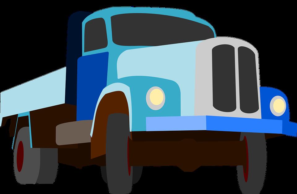 Truck, Traffic, Cargo, Goods, Blue, Auto, Machine, Road