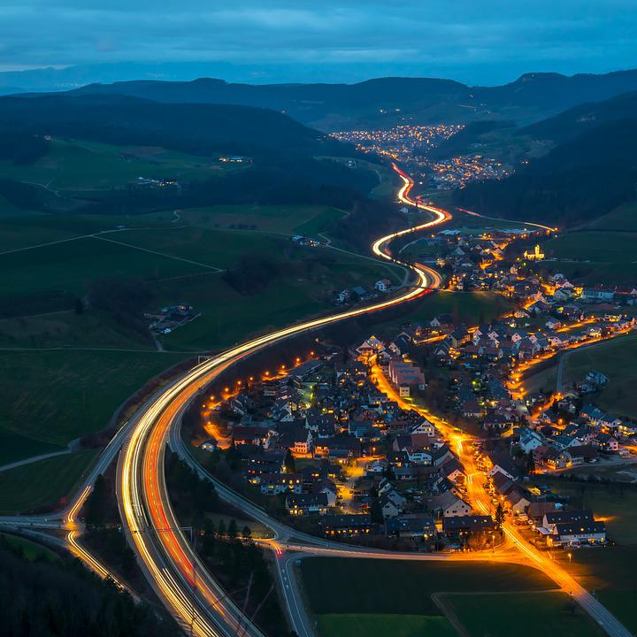 Light Traces, Traffic, Highway, A2 Motorway