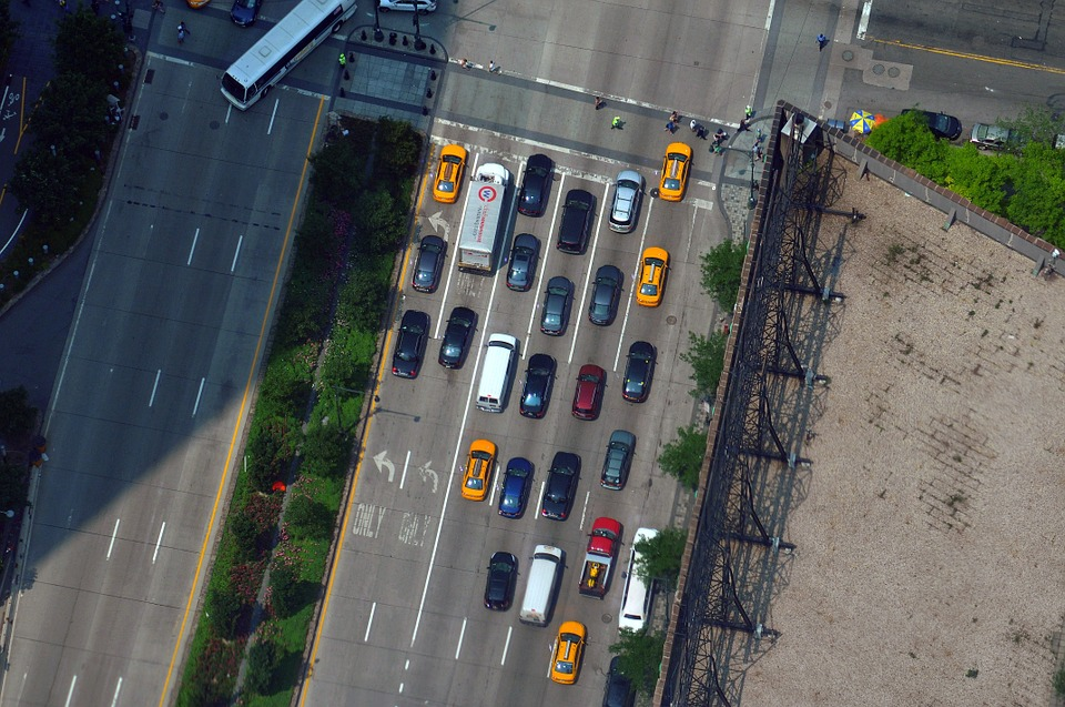 Taxi, Road, Highway, Traffic, New York City, Travel
