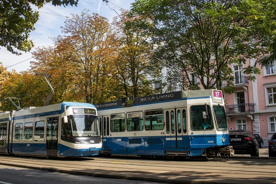 Zurich, Tram, Transport, Traffic, Stop, Historically