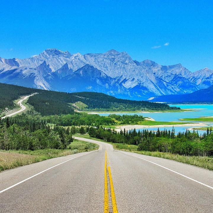 Canada, Road, Landscape, Traffic