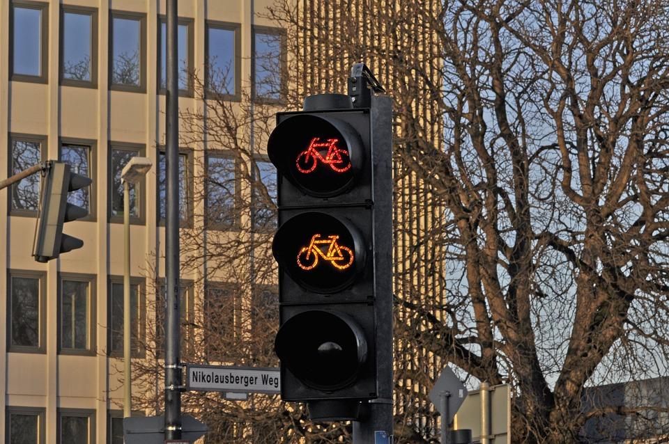 Traffic Light, Signal, Bicycle, Traffic, Street, Road
