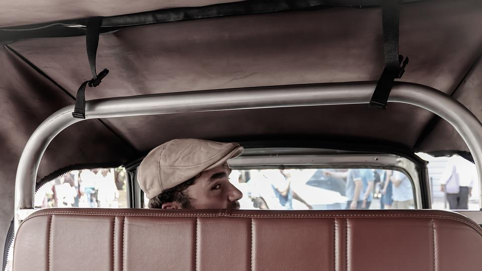 Taxi, Driver, Old, Man, Oldtimer, Traffic, Automotive