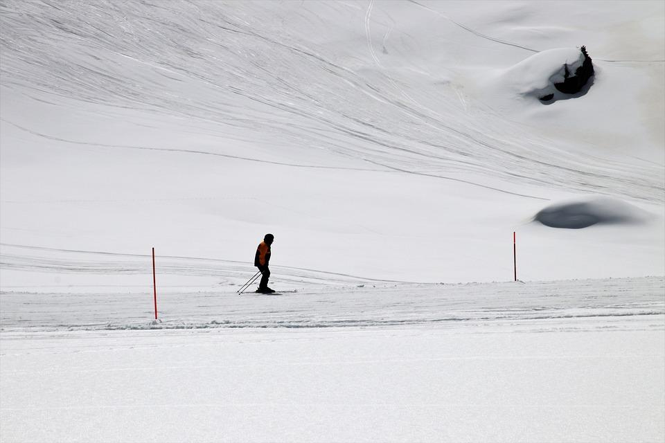 Skier, Zermatt, The Alps, Hiking Trail, Traffic, One