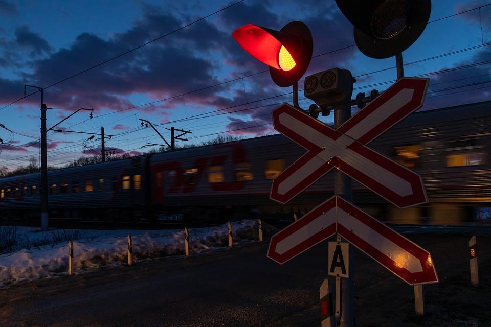Railway, Railway Crossing, Traffic, Road, Closed, Red