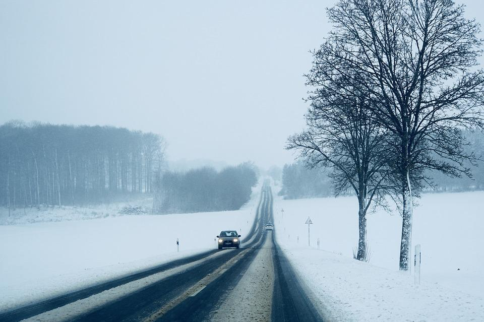 Bad Weather, Snow-covered Road, Snow, Winter, Traffic