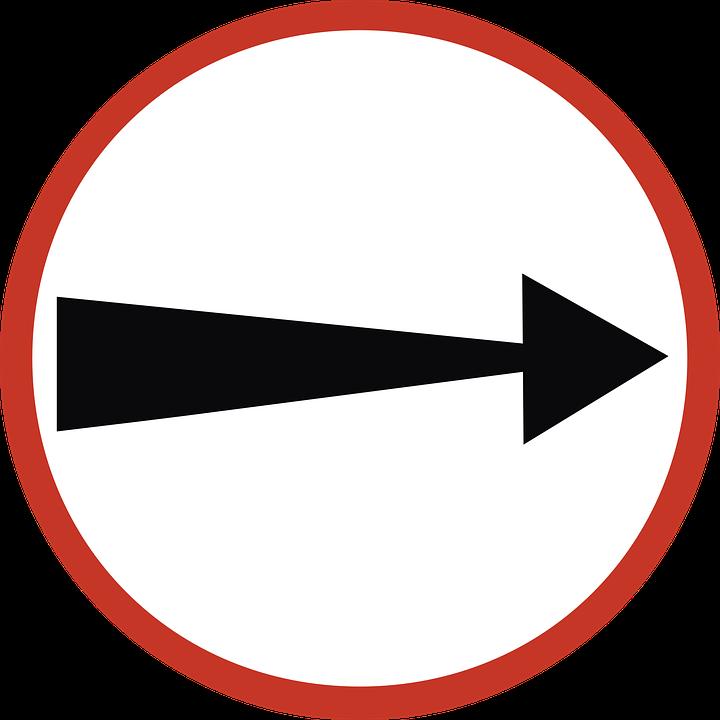 Road Sign, Direction, Arrow, Traffic, Symbol, Sign