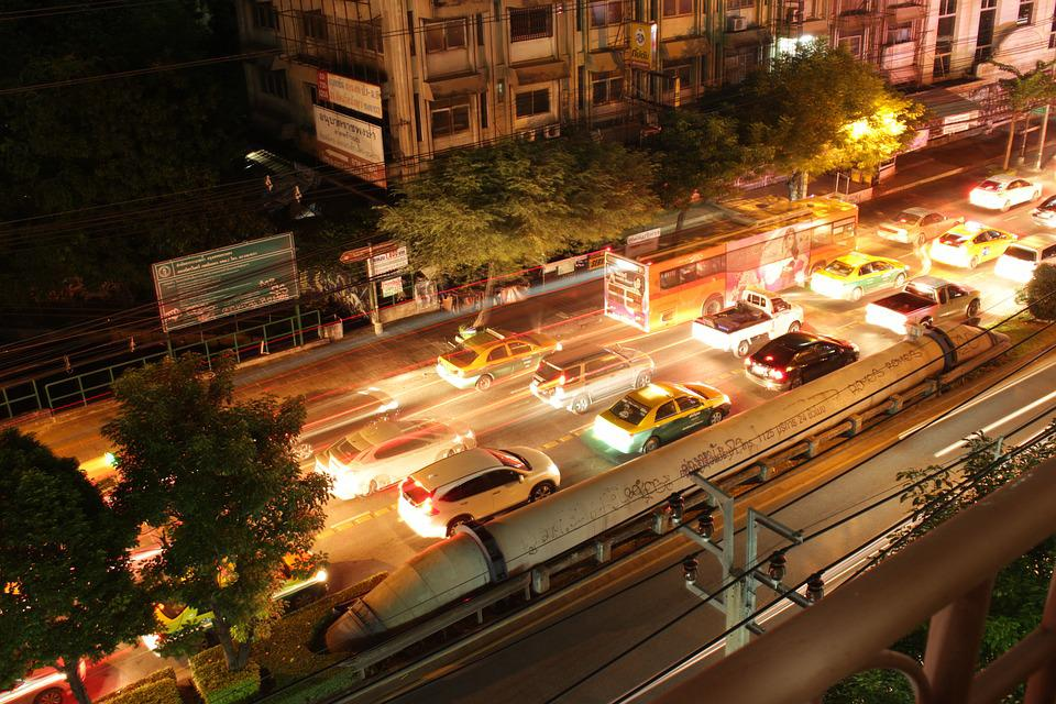 Traffic, Night, Thai, Light Line