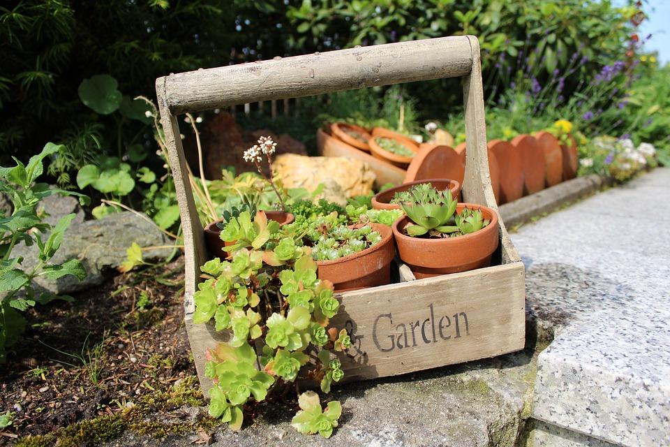 Wood Basket, Garden, Tragerl, Gartendeko, Wood