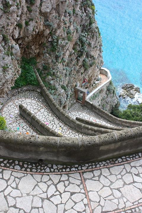 Capri, Trail, Sea