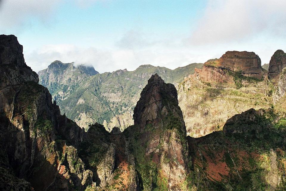 Madeira, Summit, Hiking, Fog, High, 2000m, Trail