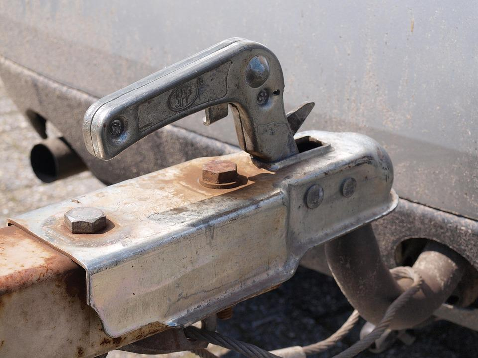 Towbar, Car, Follower, Trailer, Rust, Rusted