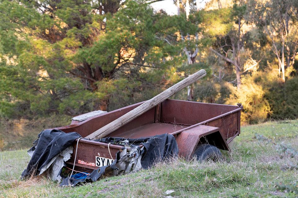 Trailer, Rusty, Old, Abandoned, Rusted, Wreck