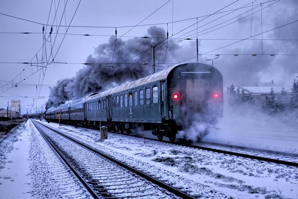 Train, Blackjack, Dark, Railway, Dr 18201, Winter, Snow