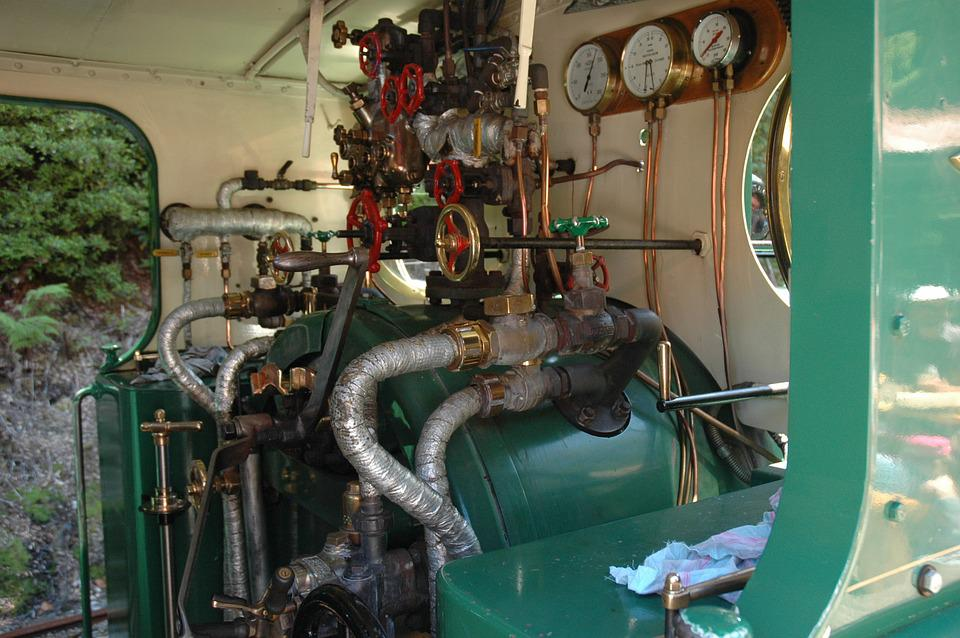 Train, Steam Locomotive, Controls