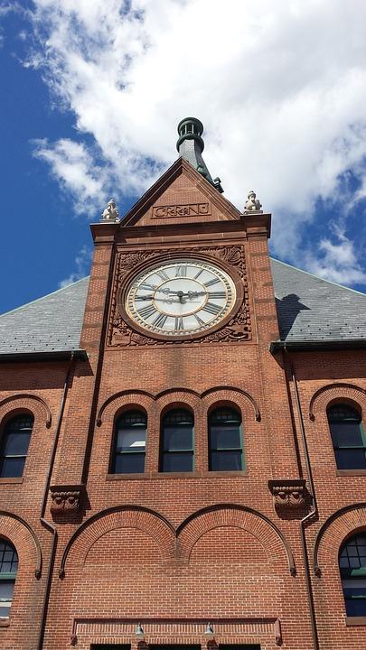 Lackawanna, Clock, Train, Station, Hoboken, Landmark