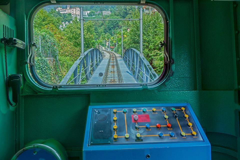 Train, Mountain Railway, Locarno, Funicular Railway
