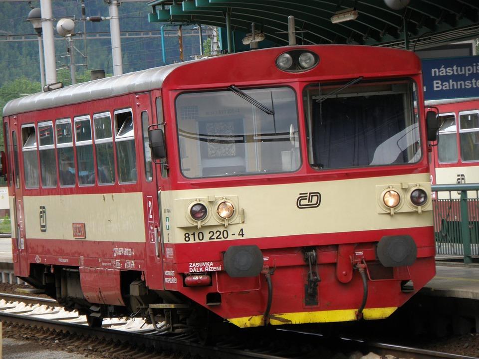 Machine, Train, Local, Motorák, Station