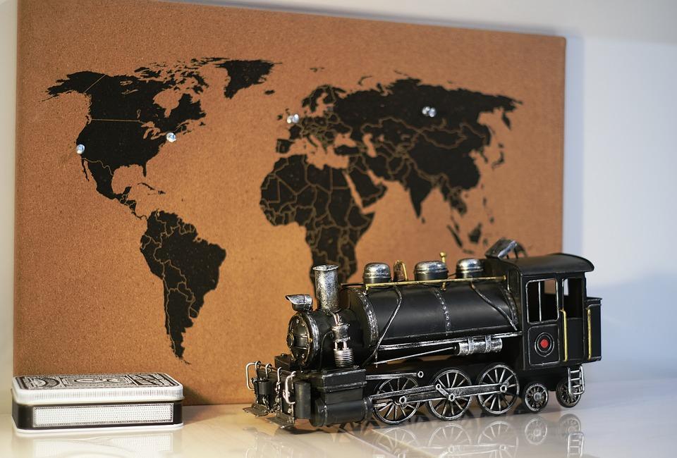 Free photo Train Map Steam Locomotive Railway Loco ... on